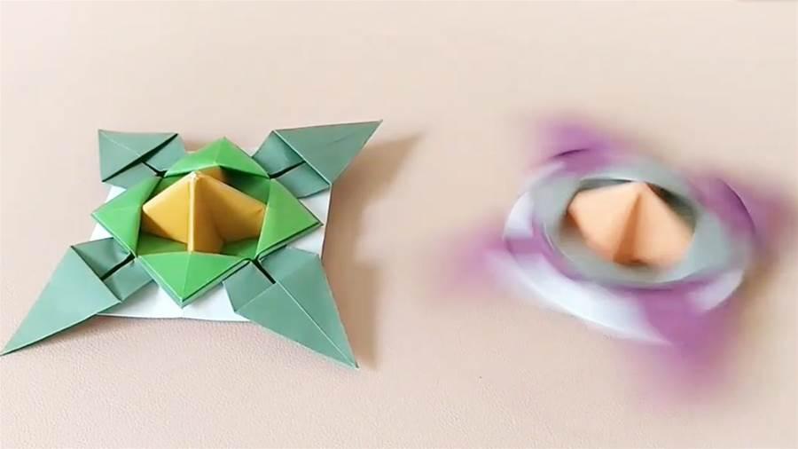 折紙陀螺,比買的還要好玩好看,轉起來賊溜