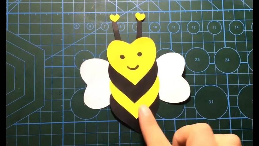 幼兒手工,愛心小蜜蜂