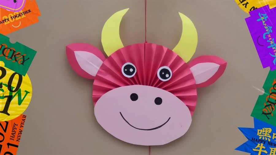 幼兒園新年手工製作 ~牛氣衝天吊飾