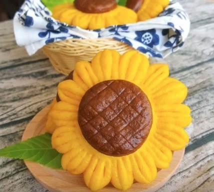 好看又好吃的南瓜太陽花饅頭|孩子愛吃