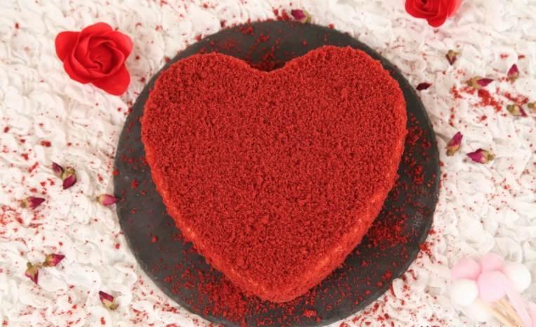 今日情人節,做個愛心紅絲絨玫瑰芝士蛋糕!