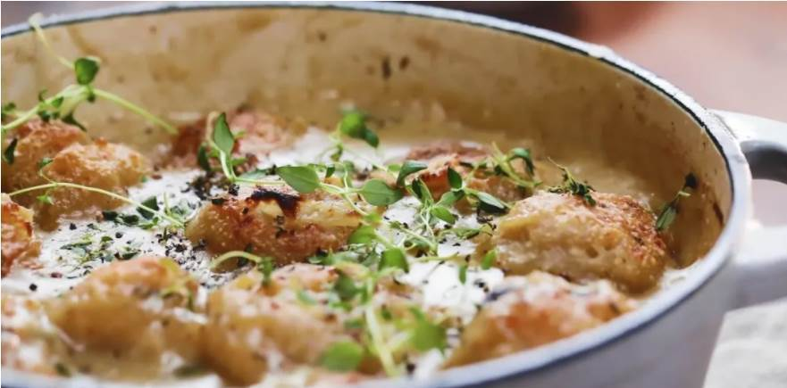 乳酪團子燉雞腿肉!西式大亂燉好帶勁兒,開鍋就是香!